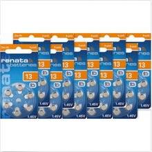 Hot Sale 60 pçs/lote Renata 13/A13/P13 Cuidado Da Orelha para BTE Aparelhos Auditivos Baterias do Aparelho Auditivo. Bateria de ar do zinco 1.45 v