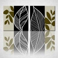 Envío gratis árbol abstracto arte de la lona para el dormitorio decoración pintura al óleo ( sin marco ) 50x50cmx2pcs