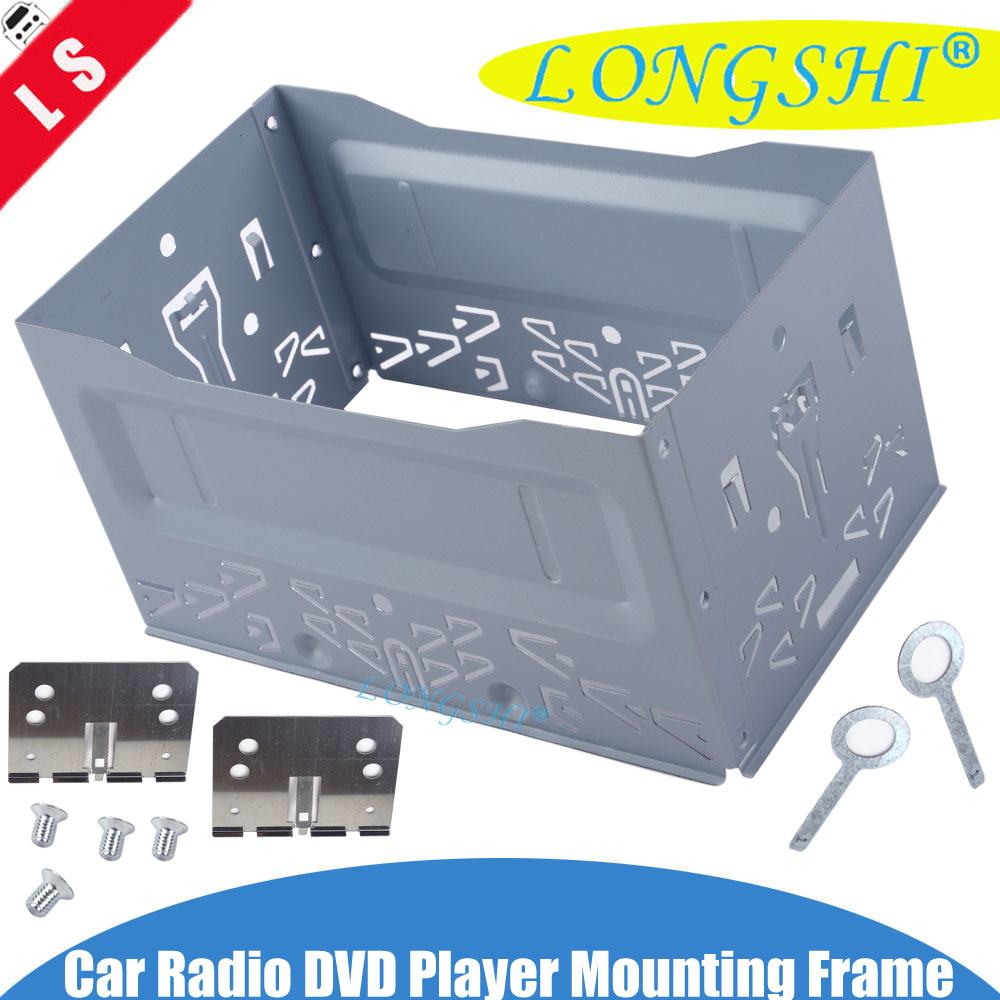 SINGLE OR DOUBLE 2 DIN CAR STEREO INSTALLATION DASH MOUNTING TRIM BEZEL KIT