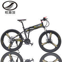 27 Speeds, 26 iches, 48V/10A, 350W, Folding Electric Bicycle, Aluminum Alloy Frame, Mountain Bike, High Speed over 30 km/h