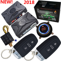 automotive car security alarm system with passwords keyless entry central lock or unlock engine start stop by alarm remote