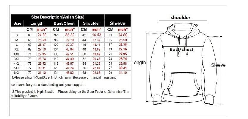 卫衣尺码表