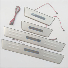 For KIA CEED 2013 2014 Door Sill With Led Car Covers Strip Welcome Pedal Styling Auto Accessories 4pcs Free Shipping