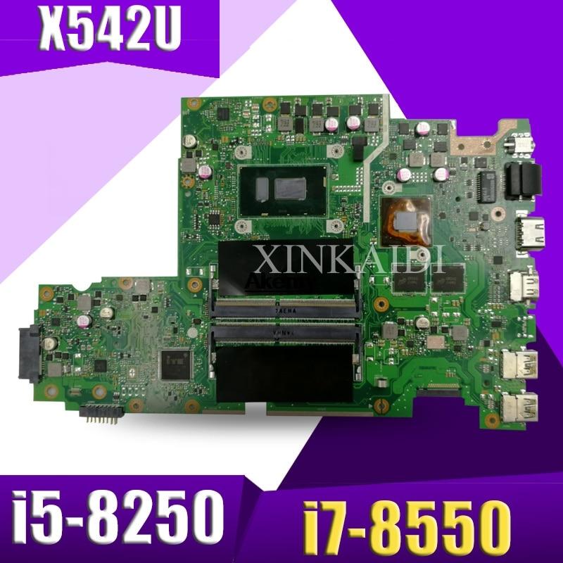 Laptop Motherboard For ASUS X542U X542UQ X542UN X542UR A580U Mianboard I5-8250 I7-8550 Exchange!