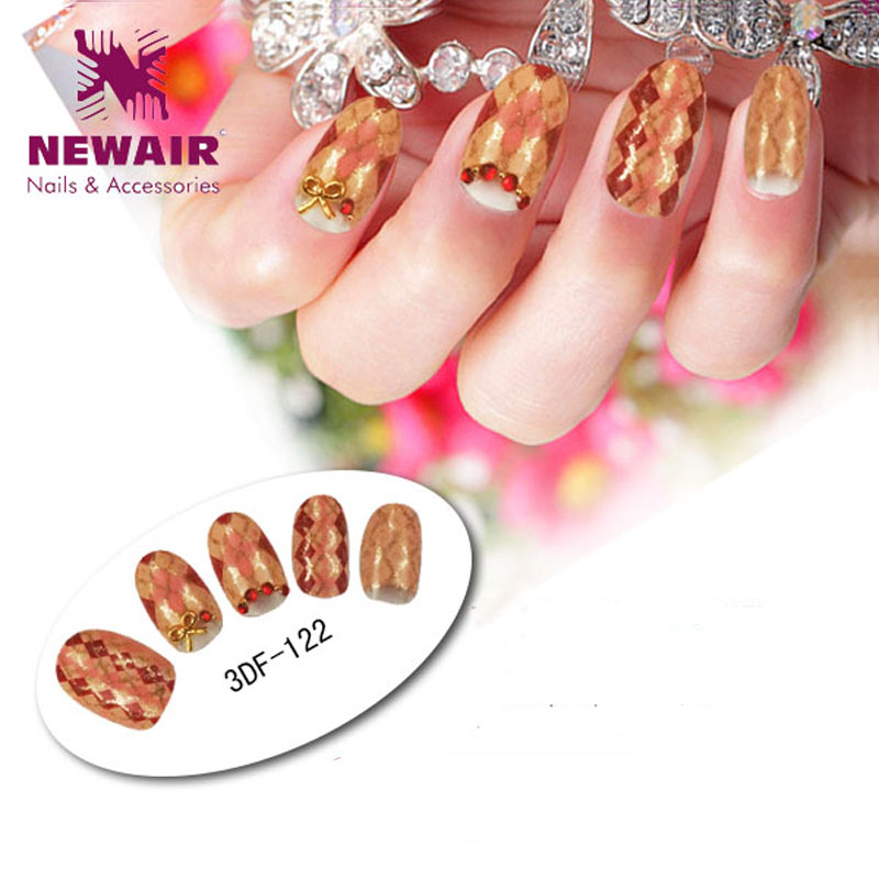 Natural shining round nail tips simple designs long women style ...