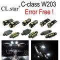 14 unids free Error Kit de LED Luz Interior Para Mercedes Para Mercedes-Benz clase C W203 C230 C320 C240 C280 C32 AMG C55 AMG (00-07)