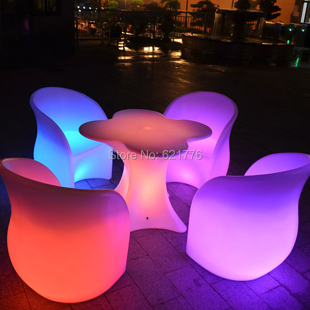 led illuminated cocktail tablecoffee table outdoor led bubble light plastic coffee