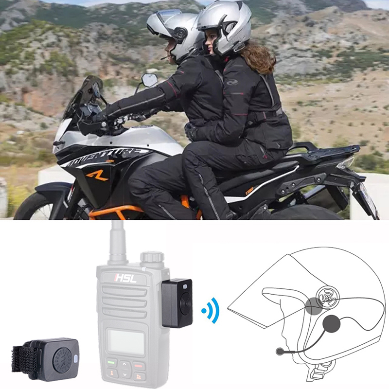 Walkie Talkie Helmet Bluetooth Headset Earpiece Two Way Radio Wireless Headphones For Motorcycle Locomotive Ski Helmet Earphone in Walkie Talkie from Cellphones Telecommunications