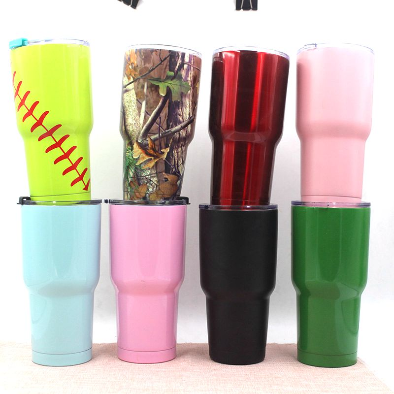 30oz double wall stainless steel 304 vacuum insulated inner plating copper tumbler with lid suitable for