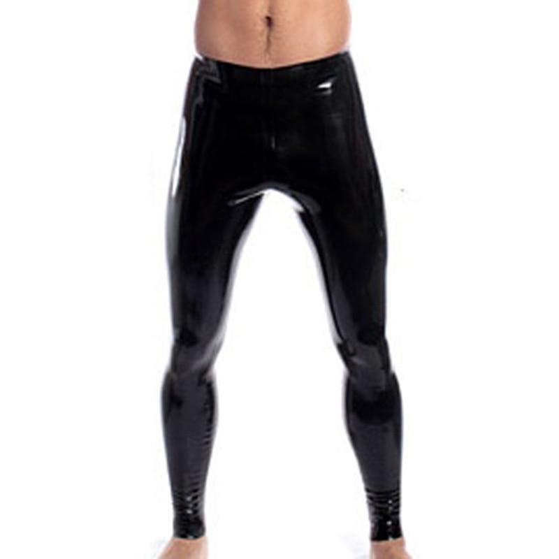 Latex Rubber Knee-length Pant Transparent Short with Urine Gag Size XXS-XXL