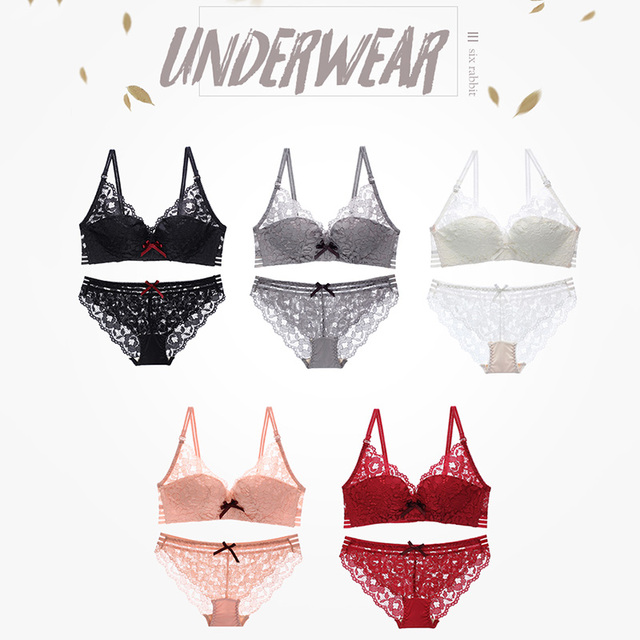 c2ba4f3cc27f New Top Women Sexy Underwear Set Push-up Bra And Panty Sets 3/4 Cup Brand  Lace Lingerie Set Deep V Intimates Bralette Set