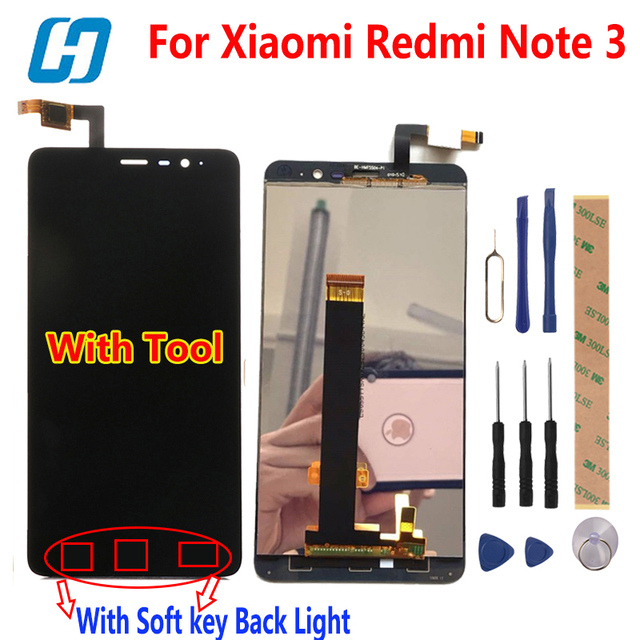 For Xiaomi Redmi Note 3 Touch Screen Display LCD +Touch Panel Digitizer +Tempered Glass For Xiaomi Redmi Note 3 Pro Prime 5.5'