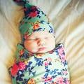 New Flower Print Baby girl Cotton hat baby shower gift photography prop newborn hat baby cap