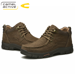 Image 4 - Camel Active New Super Warm Men Winter Boots for Men Warm Waterproof Cow Leather Boots Shoes 2018 New Mens Ankle Snow Boos