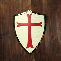 Cosplay medieval knight adult armor shield game show shooting bar decoration hanging shield props