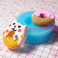 Free Shipping TYL013U Kawaii Cat Donut Doughnut Silicone Mold Cake Fondant Tools Fimo Polymer Cupcake Decorating Tools Chocolate