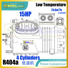 15HP semi-hermetic reciprocating compressors with sight glass can monitor oil level and is easy to change oil, replacing 4H15.2Y