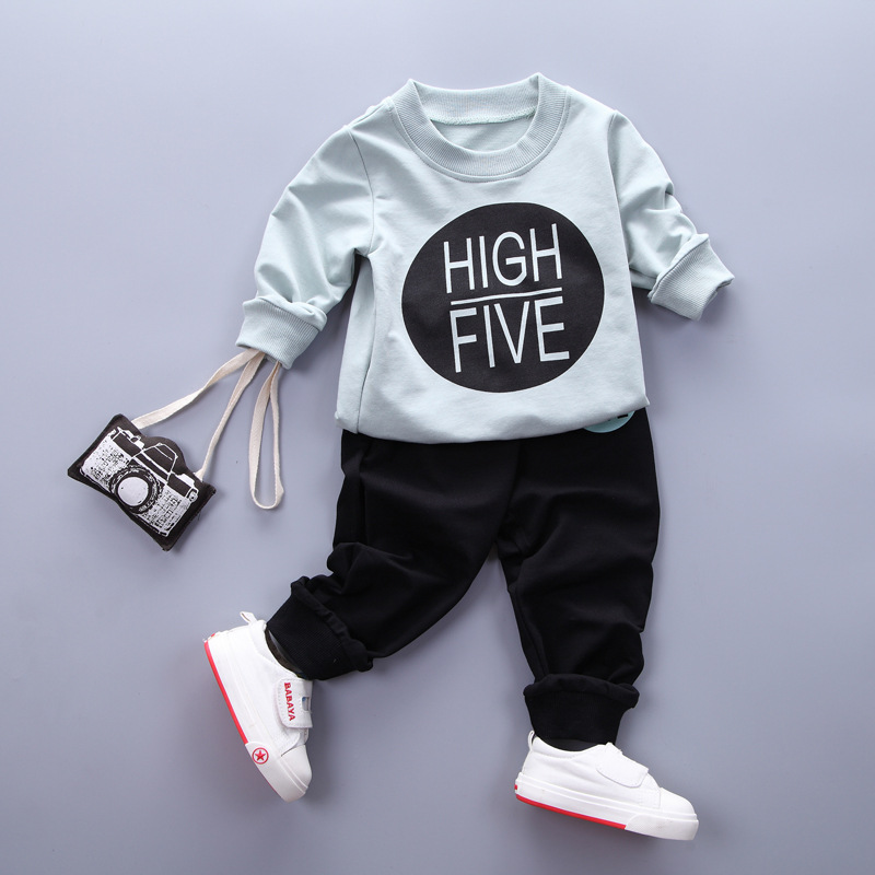 Dapchild Toddler Baby Girls Kids Warm Clothing Set Winter Autumn Sweatshirt Tops+Pants 2pcs Outfits boys tracksuits Blue Pink цены онлайн