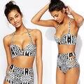 2017 Sexy Women Brazilian Bandage Bikini Set Push-up Padded Bra High Waist Swimsuit Bathing Suit Swimwear monokini