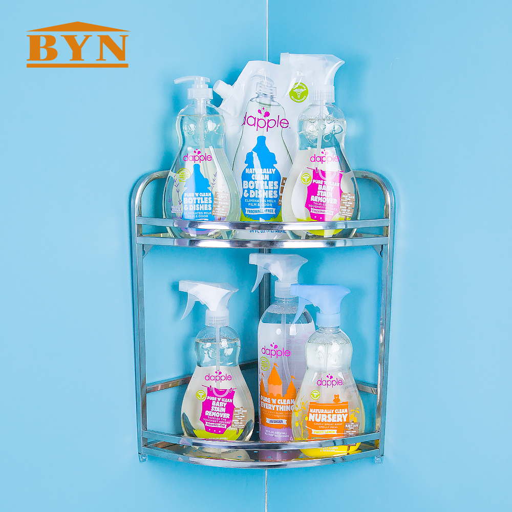 BYN BATHROOM ACCESSORIES 2 Tier Corner Bathroom Rack shower caddy ...
