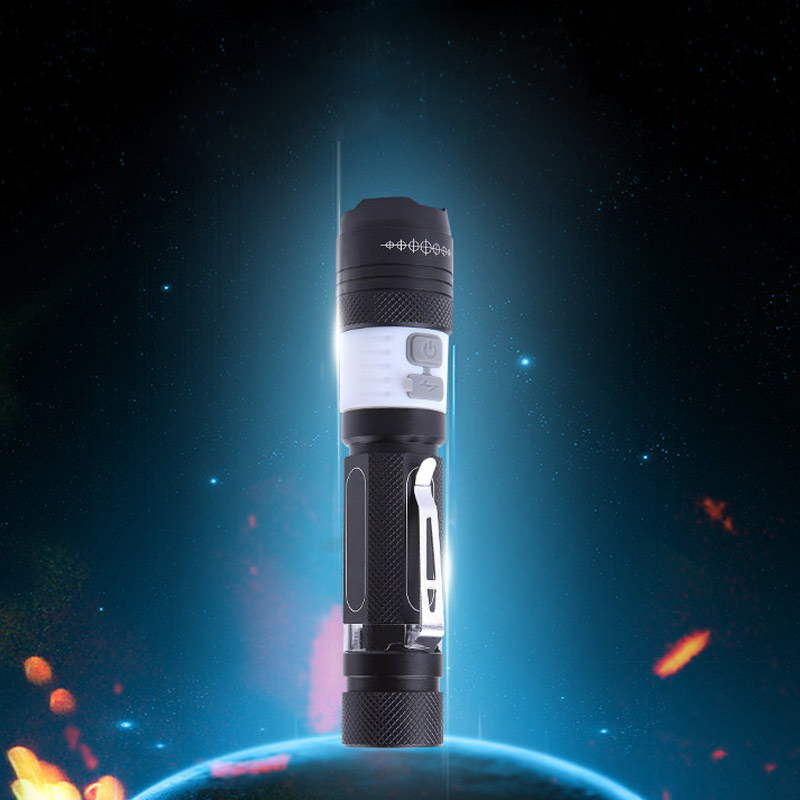 High Quality Portable Mini Penlight Waterproof LED Flashlight Aluminium Alloy with A Pen Buckle Lantern Portable Light USB --M25