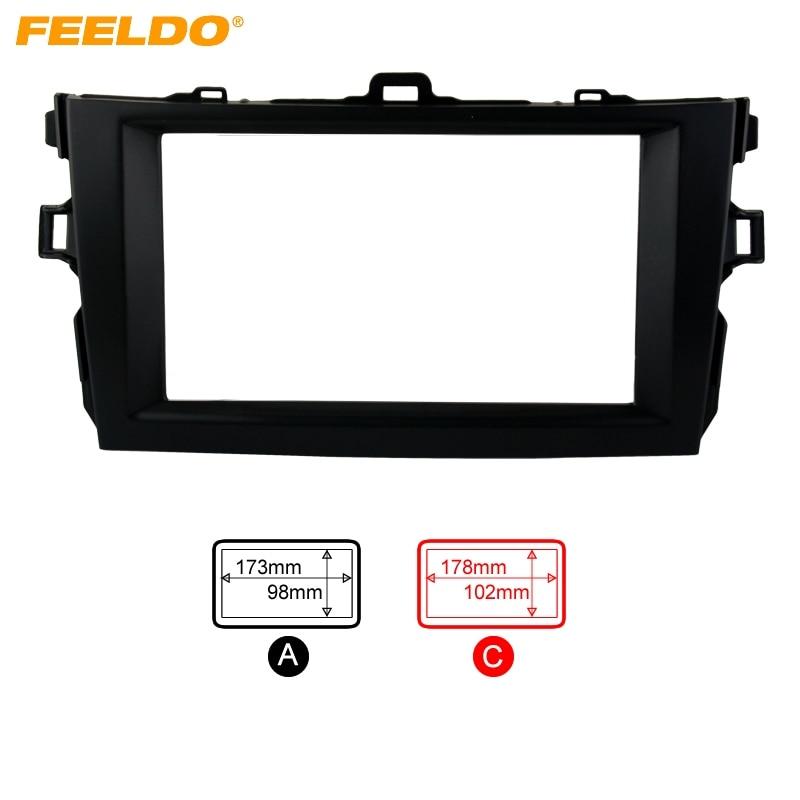 FEELDO For Toyota Corolla(08~10) Black 2DIN Car Refitting Radio Stereo DVD Frame Fascia Dash Panel Installation Kits #AM2684