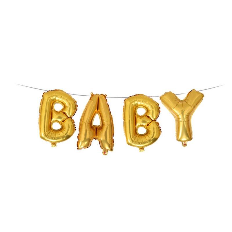 16 дюймов Детские золотого, серебряного цвета розовое золото письмо для создания свадебного украшения бакалавра вечерние декоративные Фольга шар буквы