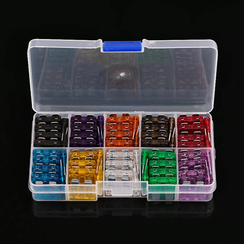 New M Size 100pcs Blade Fuse Auto Automotive Car Boat Truck Fuse Box Assortment 2A 3A aliexpress com buy new m size 100pcs blade fuse auto automotive fuse box size at reclaimingppi.co
