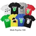 Novo Anime Psico Mob 100 T-shirt do Verão dos homens T Camisa de Algodão de Manga Curta