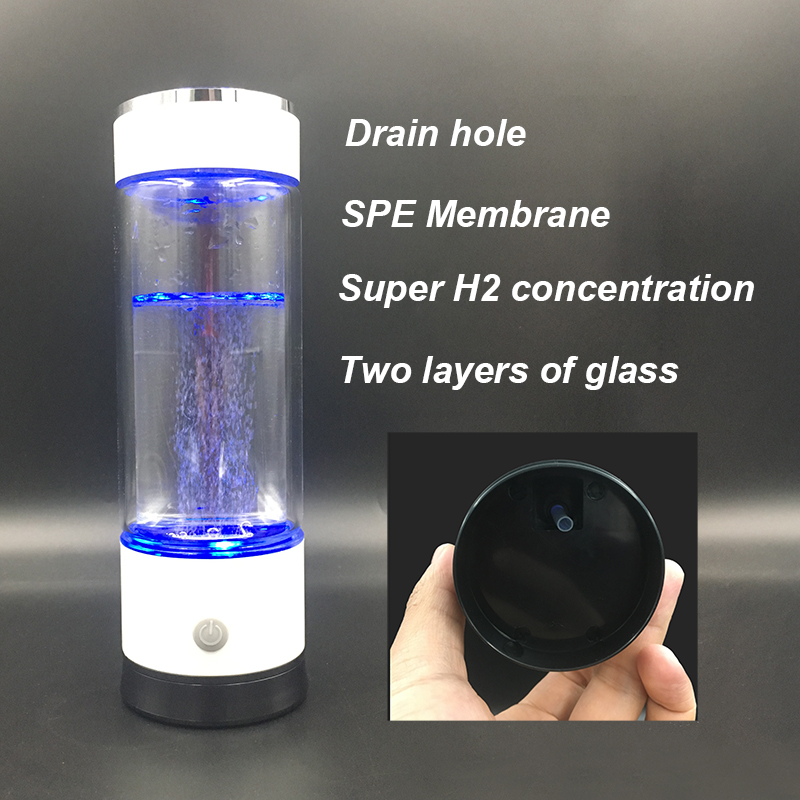 3d046abdf3 New SPE/ PEM Hydrogen Rich Generator Water Ionizer Bottle with Drain Hole Seperate  H2 and O2 High Pure hydrogen PET bottle Use