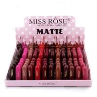 48PCS/LOT Miss Rose Natural Lipstick Waterproof Makeup Lip Matte Lip Stick Cosmetics Sexy Red Lip Tint Nude Lipstick Matte Batom