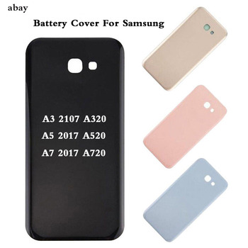 High Quality For Samsung A3 A5 A7 2017 Housing Battery Back Case A320F A520F A720F Back Door Rear Glass Battery Cover Replace image
