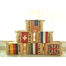 2016 New Arrival Grocery Home Furnishing In Storage Barrels Blue Cotton Creative Flag Taobao Explosion Models 0077