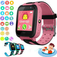 Kids Smart Watch Anti-lost Safe SOS Call Bluetooth Sim Card Camera Waterproof For Android iOS Boy Girl Cute Smartwatch 2019