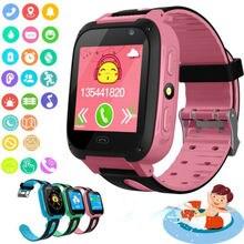 Kids Smart Watch Anti-lost Safe SOS Call Bluetooth Sim Card Camera Waterproof Fo