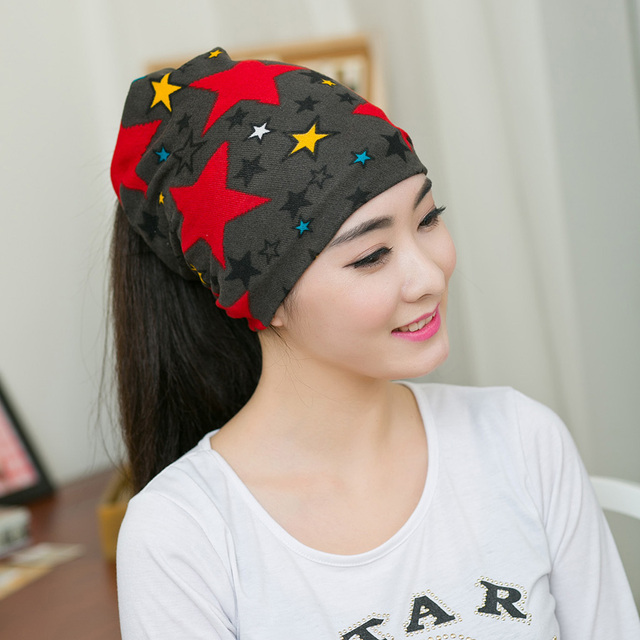 12568a5fac6 Fashion Women Hat Fall Winter Hats Casual Star Beanie Girls Caps Warm Hats  Ear Protection Wool Hat Beautiful Scarf Swag Cap