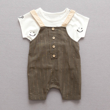 YiErYing Newborns Stripe Clothes Cotton Summer Cute Boys and Girls Short Sleeve Baby Sets +Pant 2Pcs