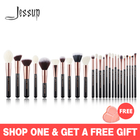 Jessup set Rose Gold /Black Professional Makeup Brushes Set Make up Brush Tools Foundation Powder Blushes natural synthetic hair