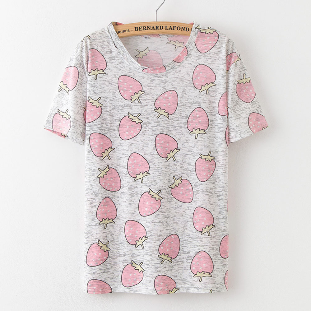 2018 Hot Estilo Abacaxi Imprimir Camisetas de Manga Curta T shirt Das Mulheres  t shirt do Verão t shirt de Algodão Mulheres Tops camisetas Causais B0253  em ... dd87e5668ddd3