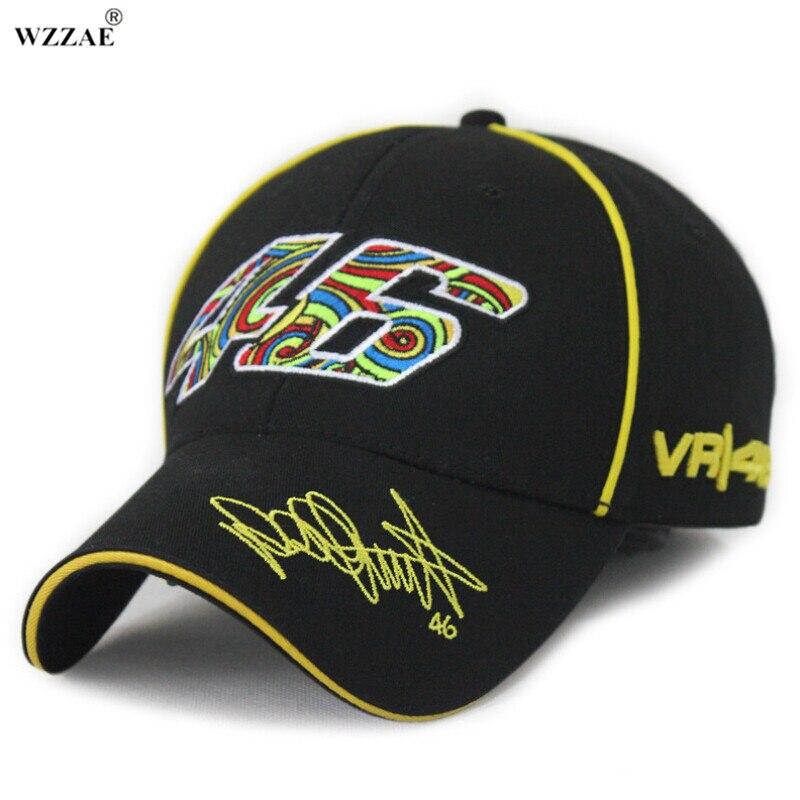 WZZAE Snapback Caps 2017 Official F1 MOTO GP Marc Marquez VR46 Cap Baseball Cap Gorra Bone Truck Motocross Racing Cap Black wzzae 2017 new style black blue f1 cap