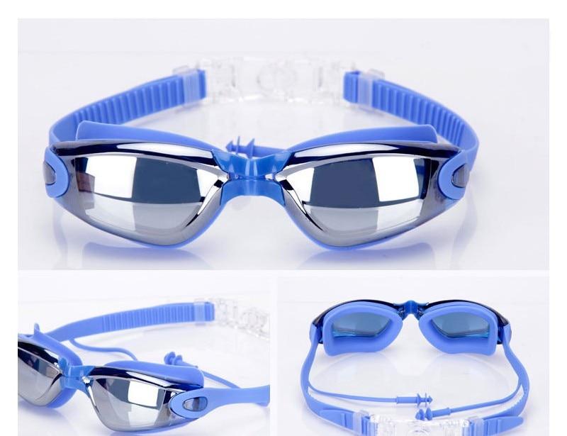 Silicone Professional Myopia Swimming Goggles With Earplug Anti Fog For Men And Women 2