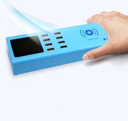 SS-309WD telefon komórkowy inteligentna bezprzewodowa ładowarka + 8usb port ładowania dla iphone dla ipad dla samsung