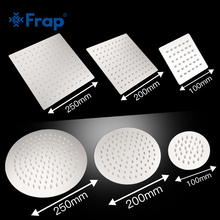Frap Round & Square Stainless Steel Showerhead Rainfall Shower Chrome High Pressure Ultra-thin Shower Head Faucet Ducha Y042/3