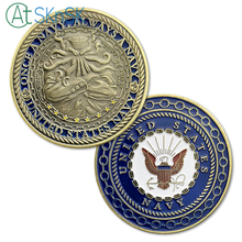 New 1/3/5/10pcs/lot United States Navy Challenge Coin Octopus Coins Collectibles Once A Always commemorative