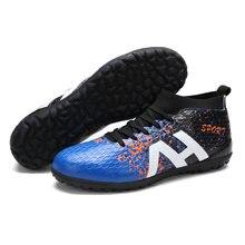 Hombres botas de fútbol TF Superfly zapatos de fútbol tobillo fútbol sala  al aire libre calcetín Cleats entrenamiento zapatillas. 124ed6e22c318
