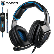 SADES SA-920 Plus PS4 Gamer Headset Gaming Headphones Stereo Casque with Mic for PC New Xbox one Mobile Phone PUBG Game Earphone
