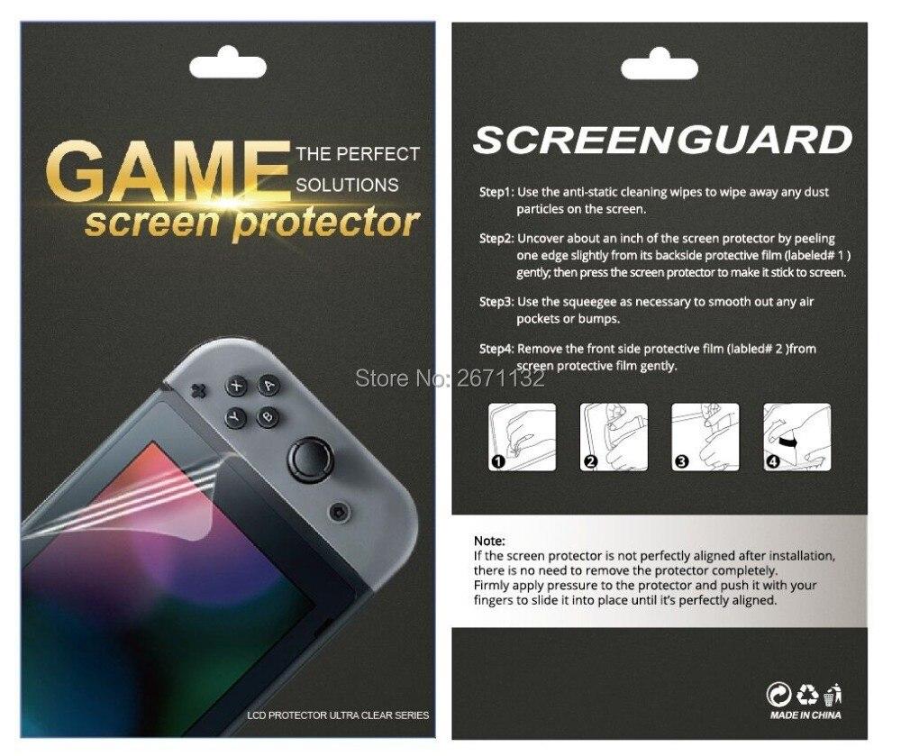 10PCS 20PCS 50PCS 100PCS For Nintend Switch HD Soft Screen Protector Thin Film Soft Film For Nintendo Switch NS NX Accessories