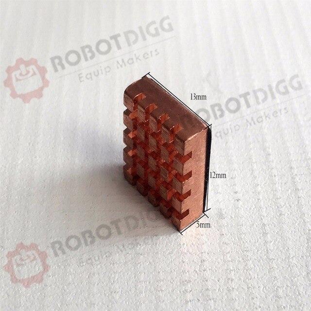 8pcs/lot  13mm length 12mm width 5mm height   High Quality Super Heat Conduction Copper Heatsink with 3M Tape