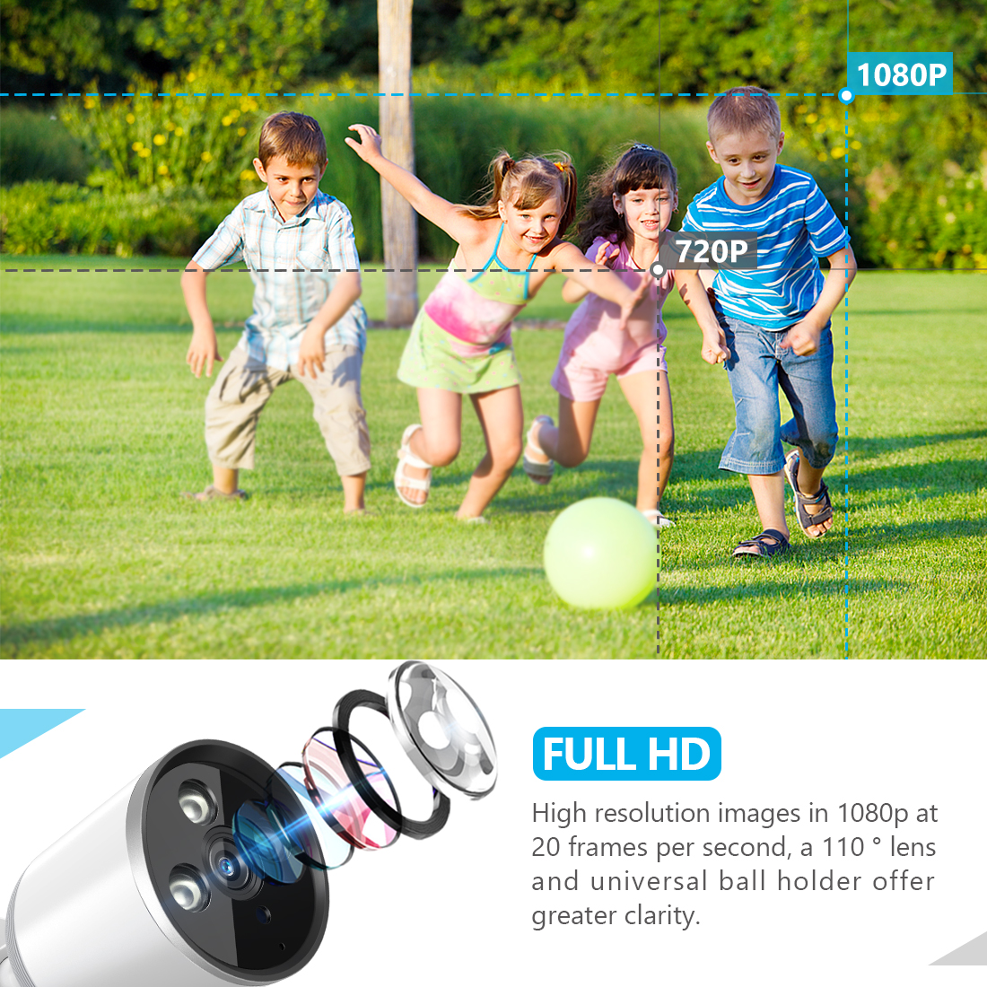 1080P IP66 Waterproof Outdoor Bullet Camera - YCC365 9