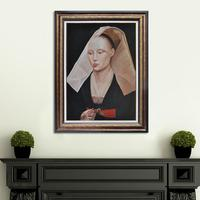 Good quality Portrait of a Lady woman oil painting art canva artwork reproduction classci figure on canvas wall art decor MP019